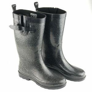 Capelli New York Tall Glitter Rain Boots Size 8